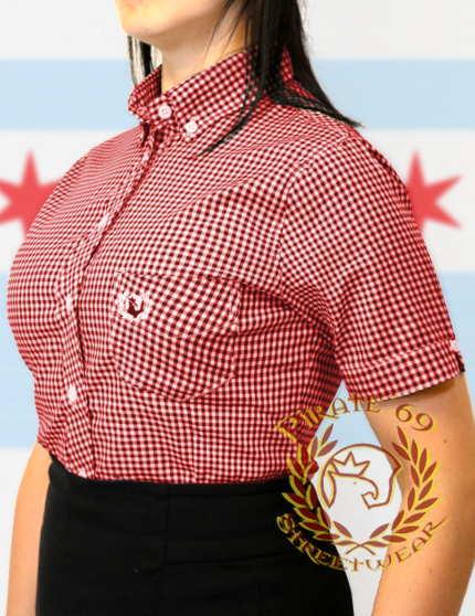 Hawk Skinhead Mod Women plaid shirt
