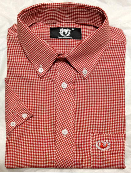1ecbf177fb9 Hawk Skinhead Camisa Escosesa New SLIMFIT Hawk Button Down Shirt.
