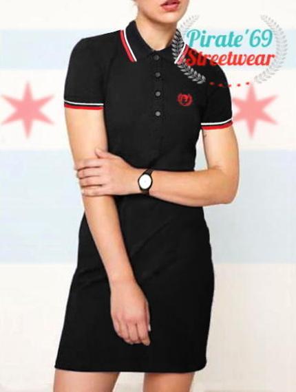 70fcd67eb53 Mod Skinhead Women Polo Dress Twin Tipped