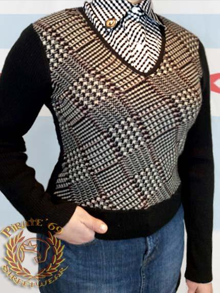 Mod Retro Ladies V-neck Sweater