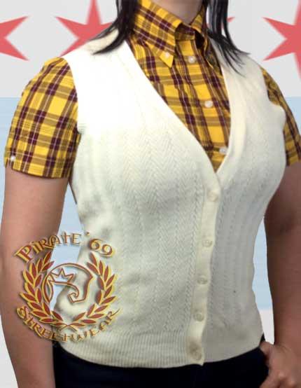 Retro Vintage Mod Cardigan vest
