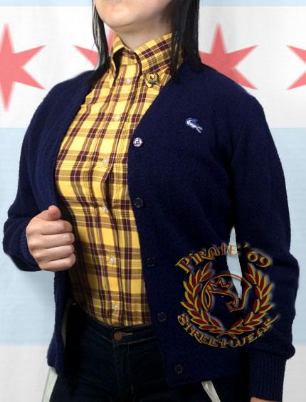Retro Vintage Mod Lacoste Cardigan