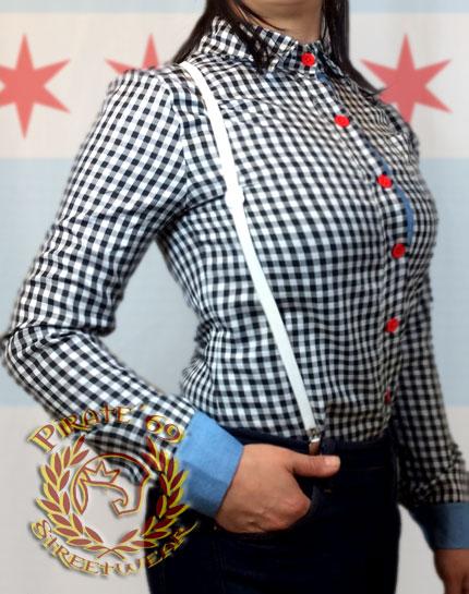 Skinhead Girl Gingham Shirt