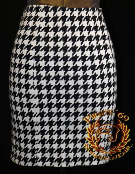 Houndstooth Mod Pencil Skirt