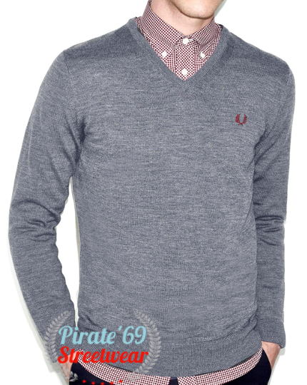 Fred Perry v-neck wool jumper