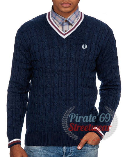 Vintage Fred Perry tipped sweater